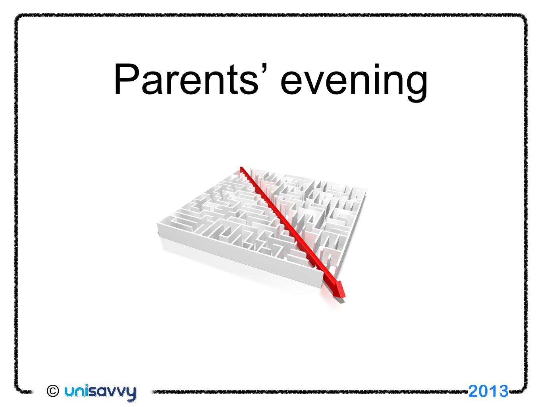 Parents' evening 2013