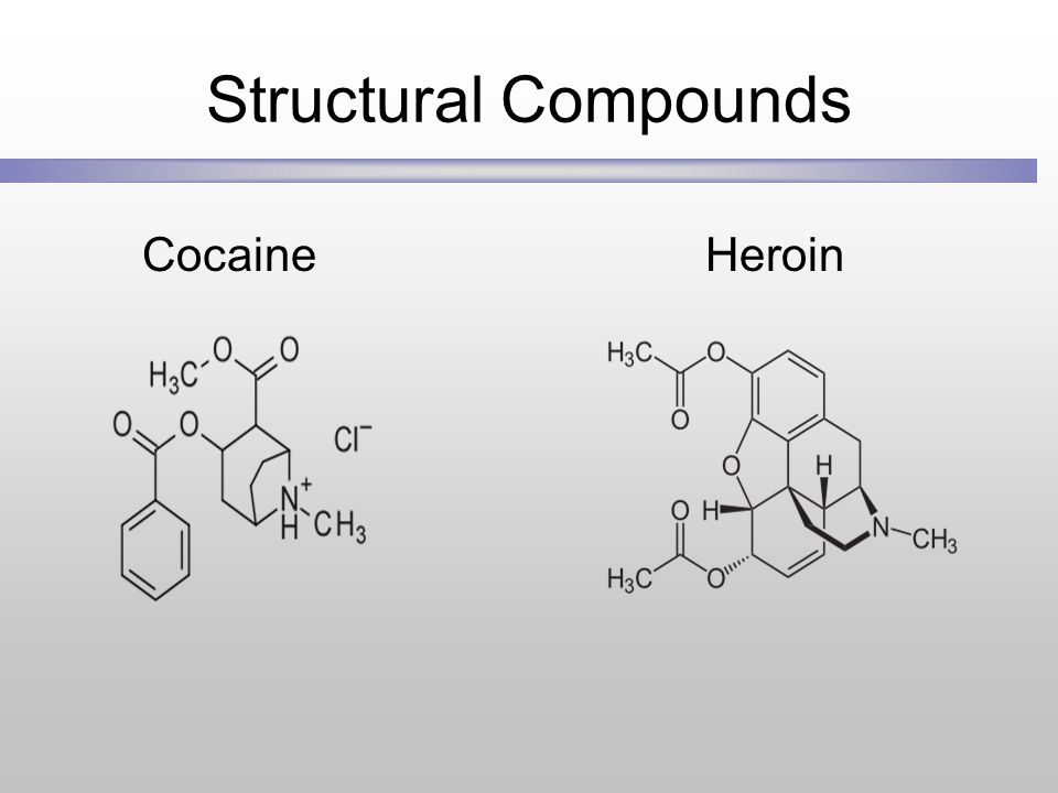 Structural Compounds Cocaine Heroin