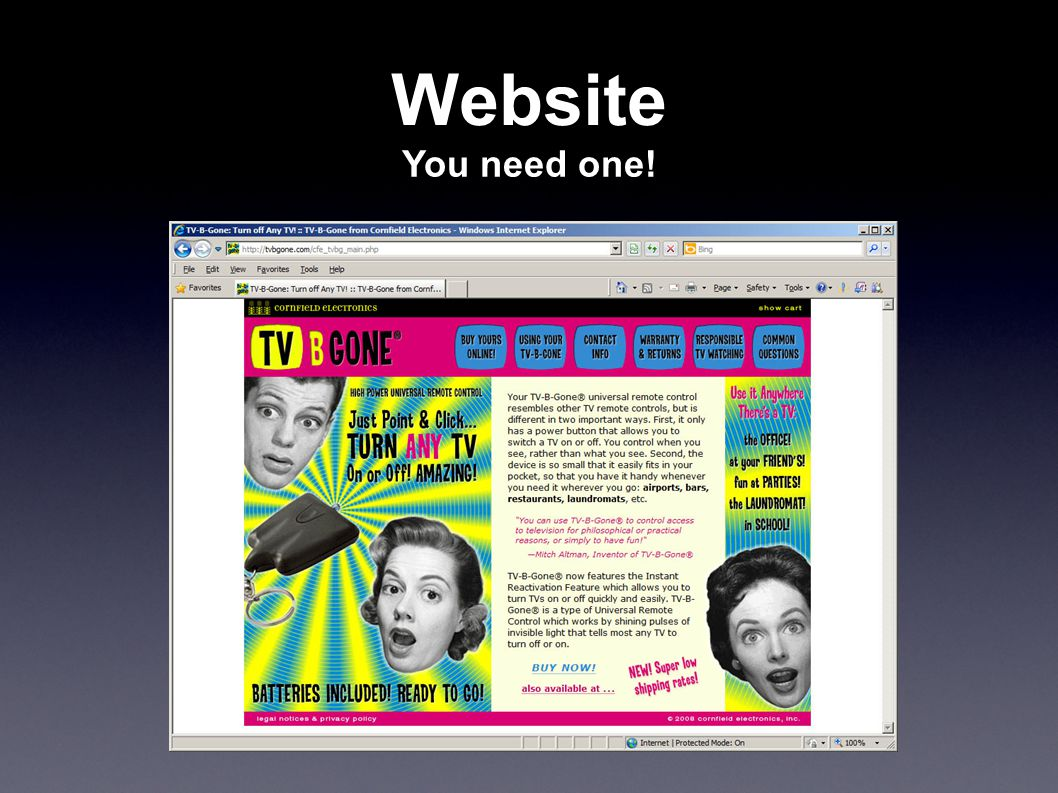 Website You need one!