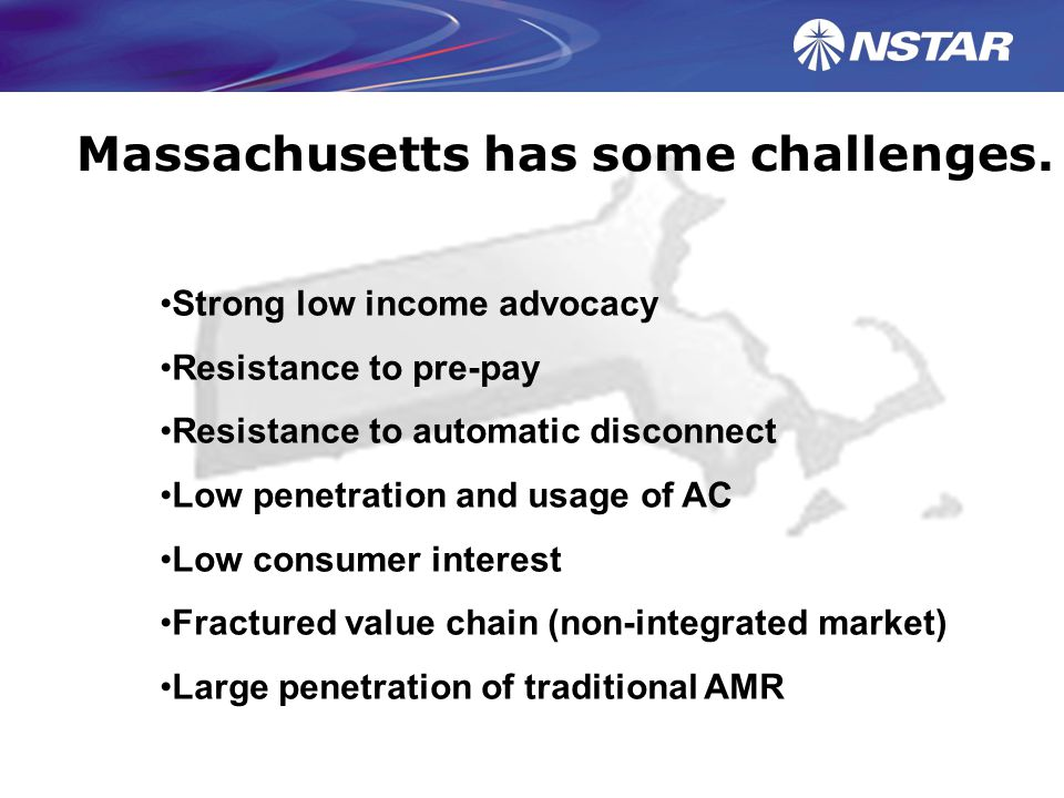 Massachusetts has some challenges.