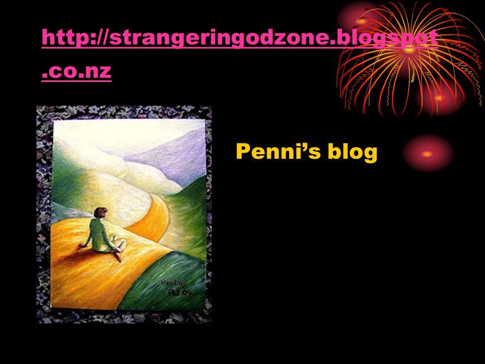 http://strangeringodzone.blogspot.co.nz Penni's blog