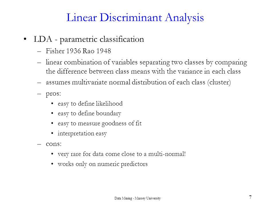 Data Mining - Massey University 48 Bayesian Classification: Why.