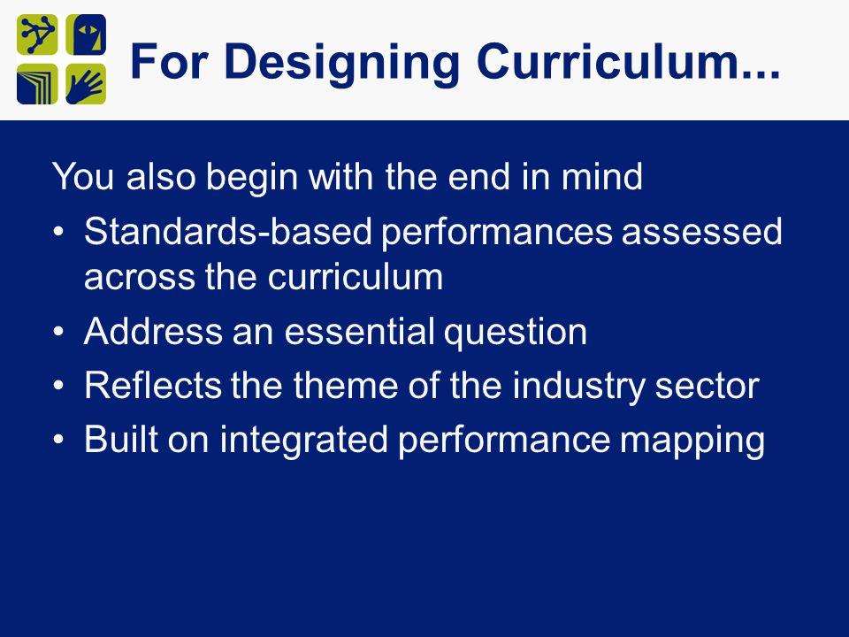 For Designing Curriculum...