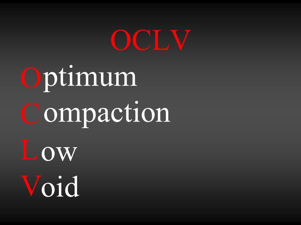 OCLV OCLVOCLV ptimum ompaction ow oid