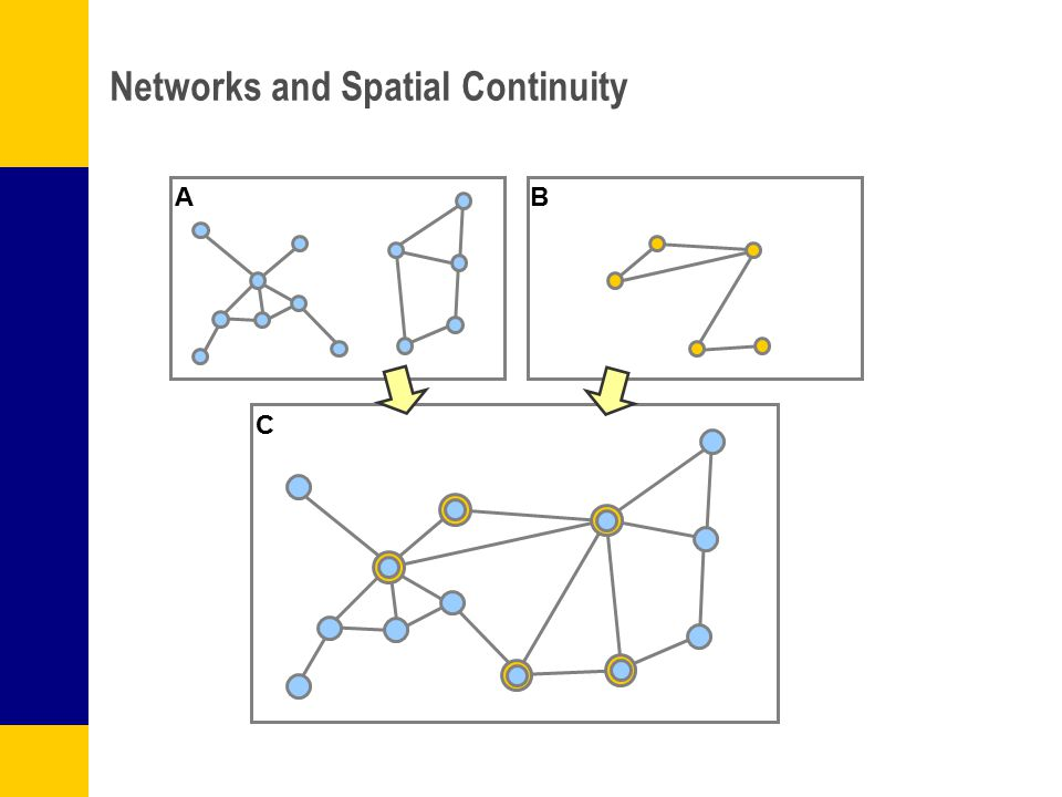 Networks and Spatial Continuity AB C