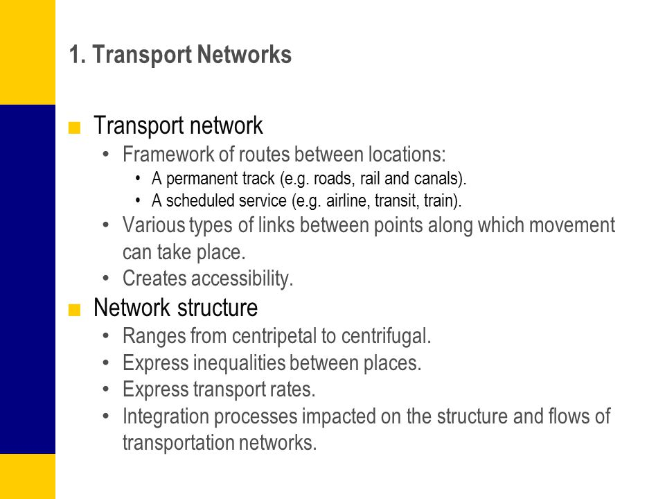 Mode of Territorial Occupation by Transport Networks Clearly defined Vaguely defined Without definition Road Rail Air corridor Maritime corridor Cellular coverage Overlap No service