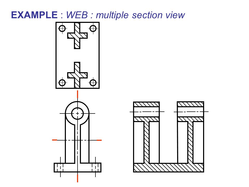 EXAMPLE : WEB : multiple section view