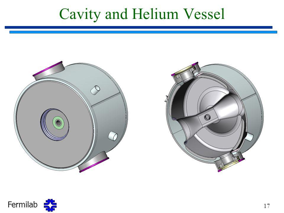 Fermilab 17 Cavity and Helium Vessel