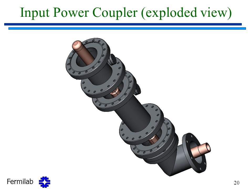 Fermilab 20 Input Power Coupler (exploded view)