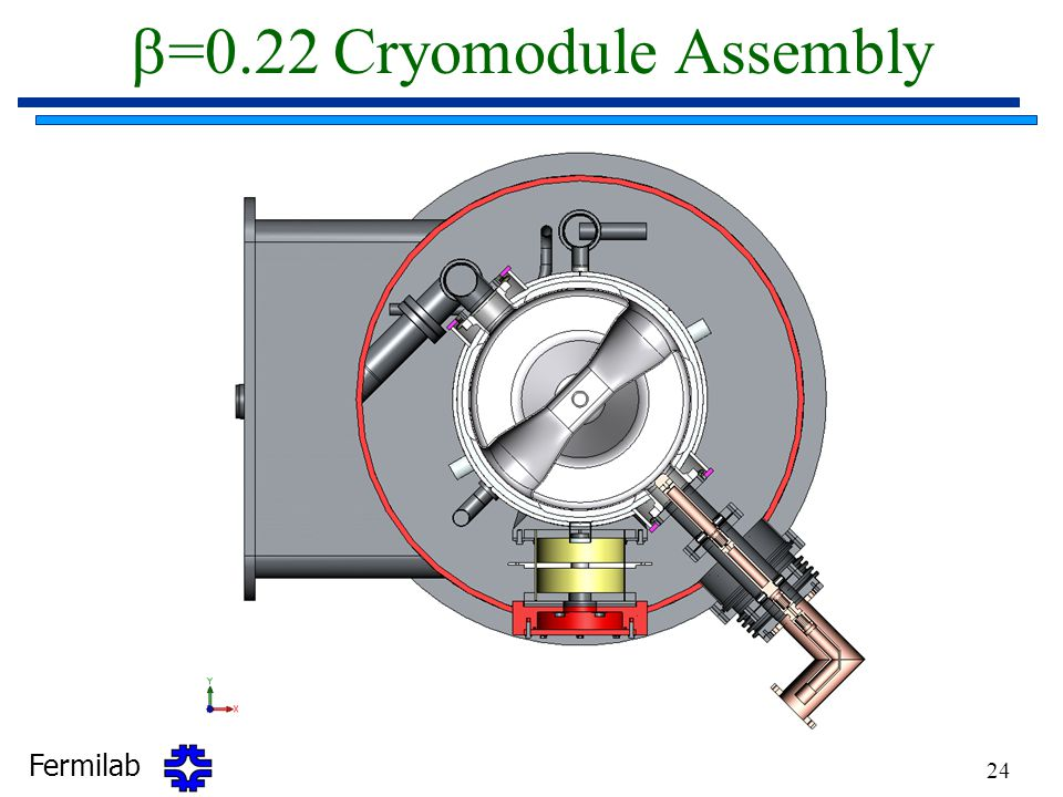 Fermilab 24  =0.22 Cryomodule Assembly
