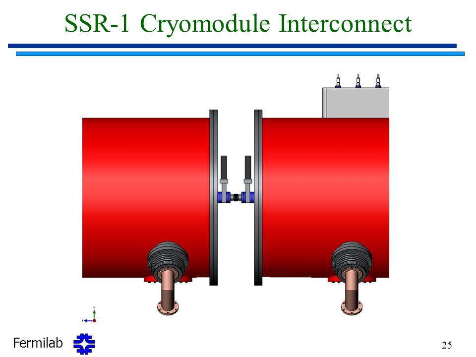 Fermilab 25 SSR-1 Cryomodule Interconnect