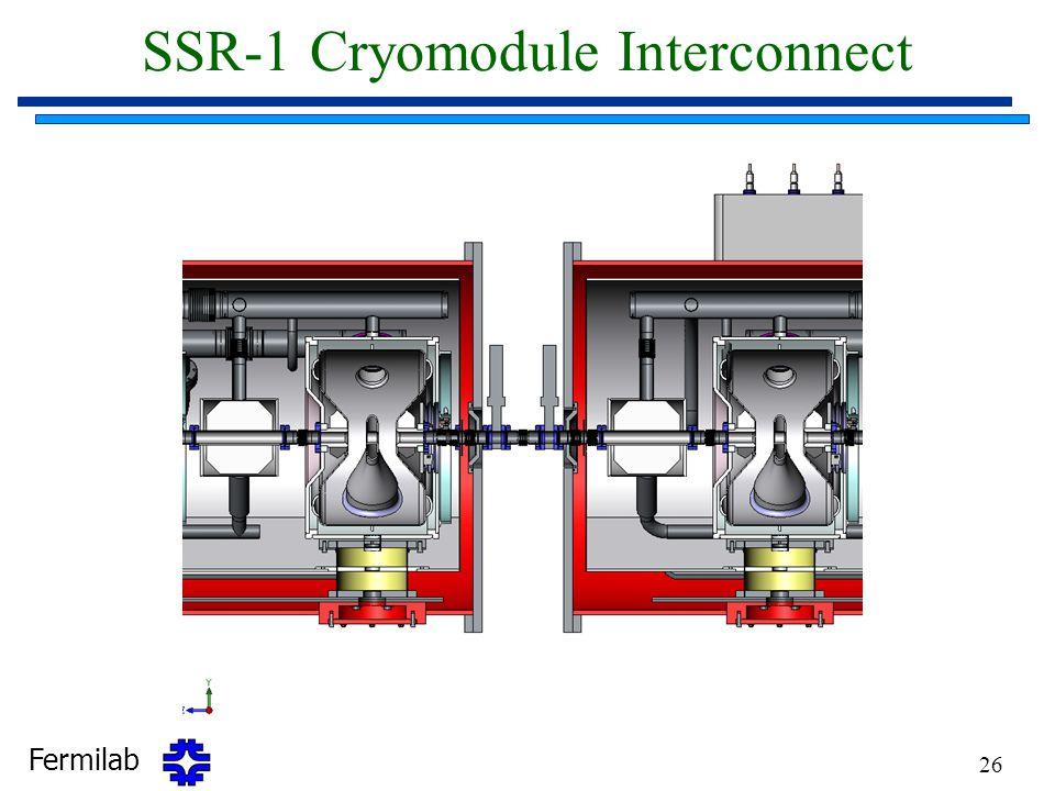Fermilab 26 SSR-1 Cryomodule Interconnect