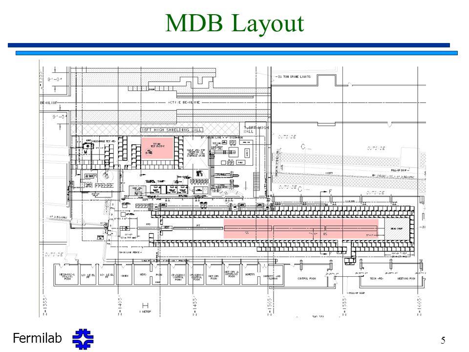 Fermilab 5 MDB Layout