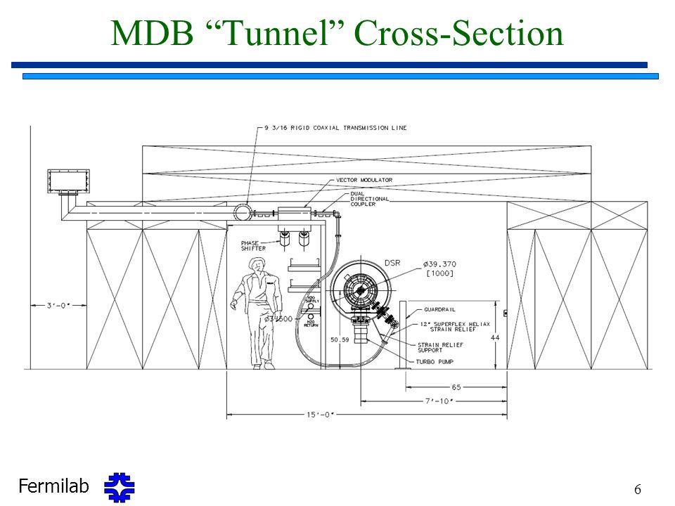 """Fermilab 6 MDB """"Tunnel"""" Cross-Section"""