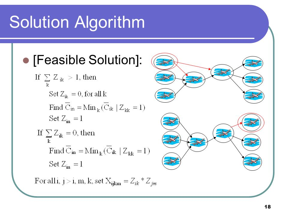 18 Solution Algorithm [Feasible Solution]: