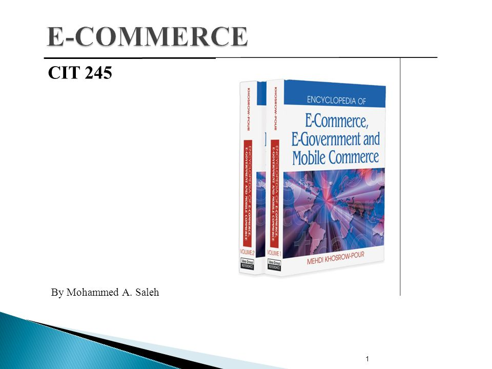 1 CIT 245 By Mohammed A. Saleh