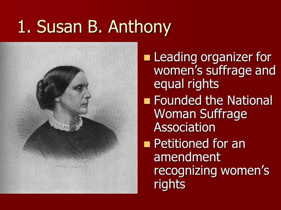 1. Susan B.