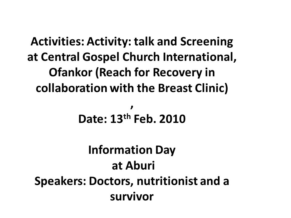 June Date: 19 th Jun.2010 Programme: monthly meeting Topic: Treatment of Cancer Speaker: Dr.