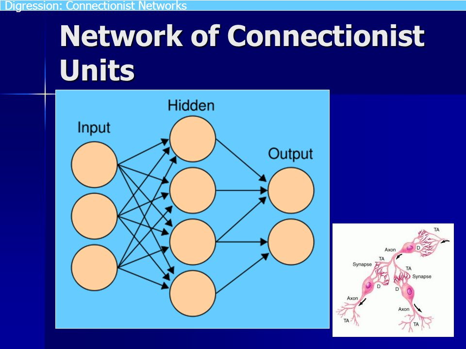 Network of Connectionist Units Digression: Connectionist Networks