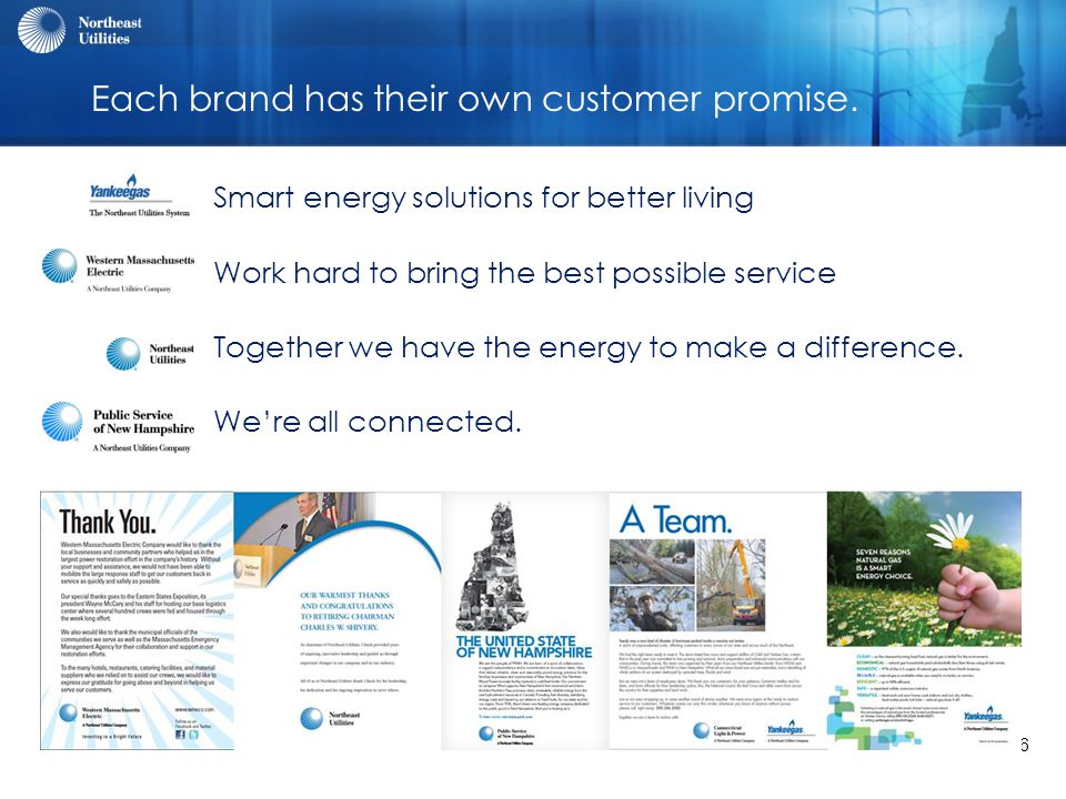 6 Each brand has their own customer promise.