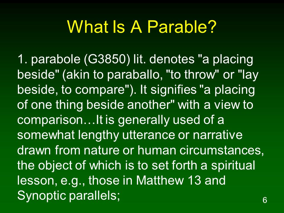 7 What Is A Parable.