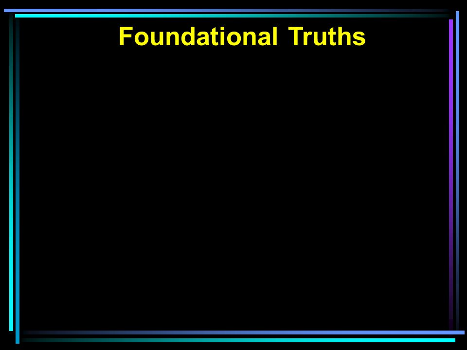 Visual Picture of Truth Eternal Truth from God