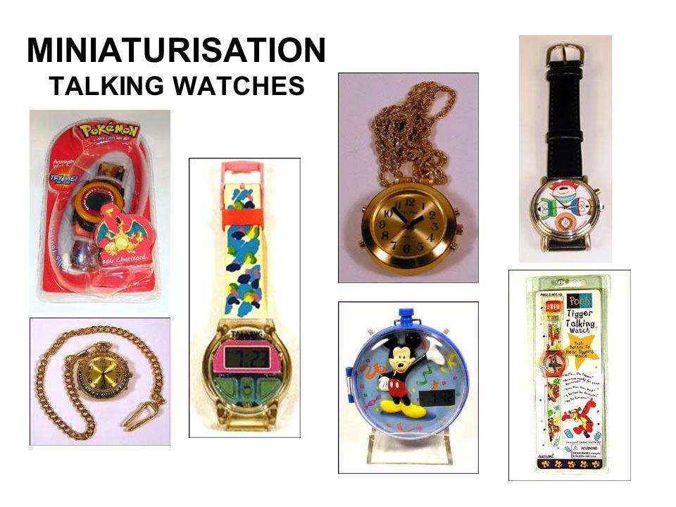 MINIATURISATION TALKING WATCHES