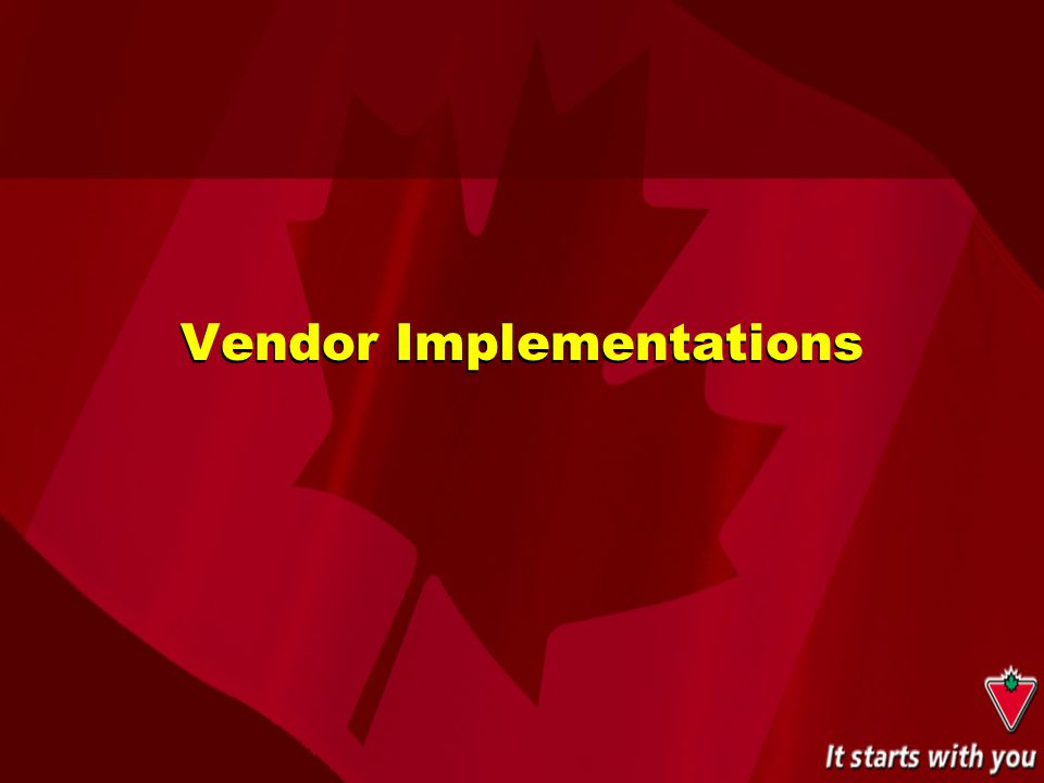 Vendor Implementations