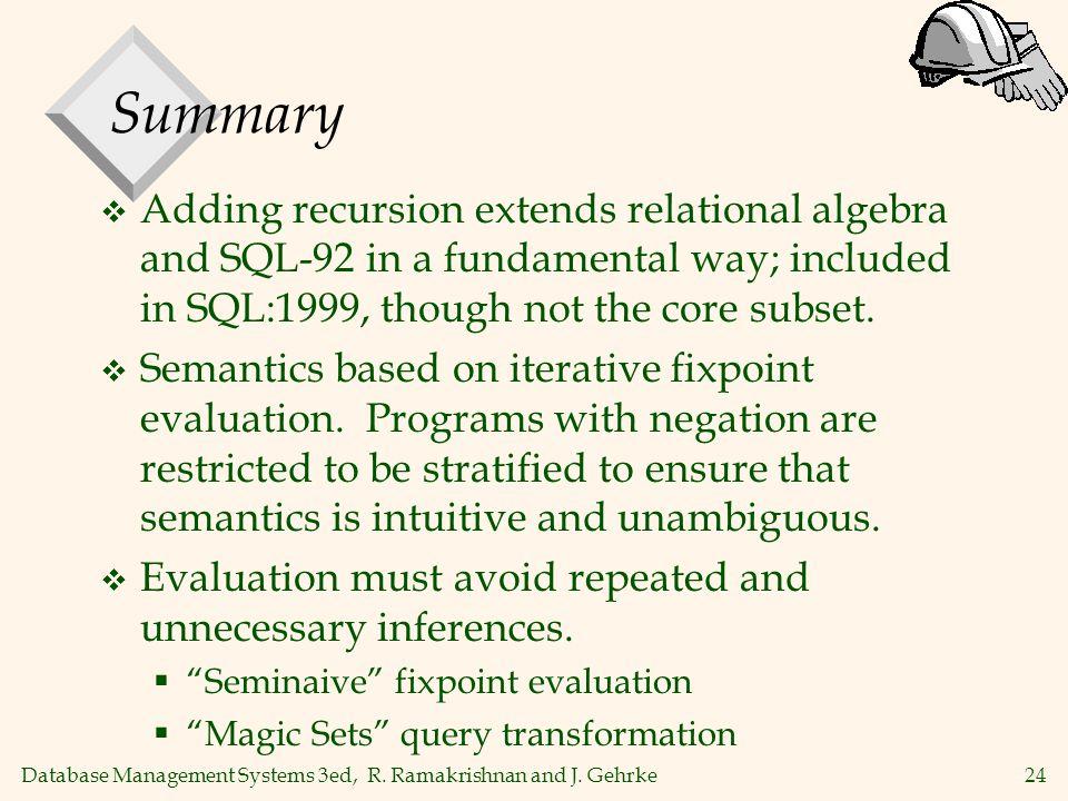 24 Database Management Systems 3ed, R. Ramakrishnan and J.