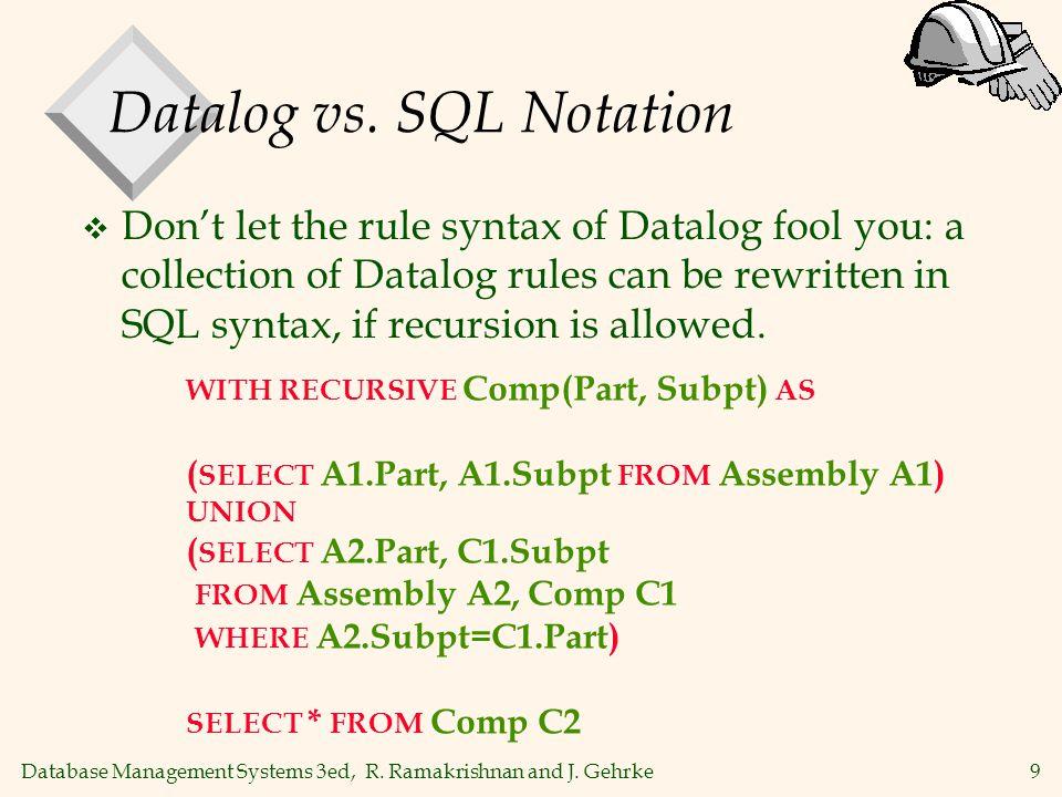 9 Database Management Systems 3ed, R. Ramakrishnan and J.