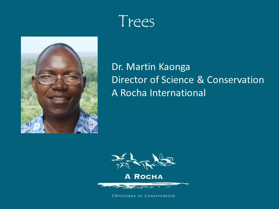 Dr. Martin Kaonga Director of Science & Conservation A Rocha International