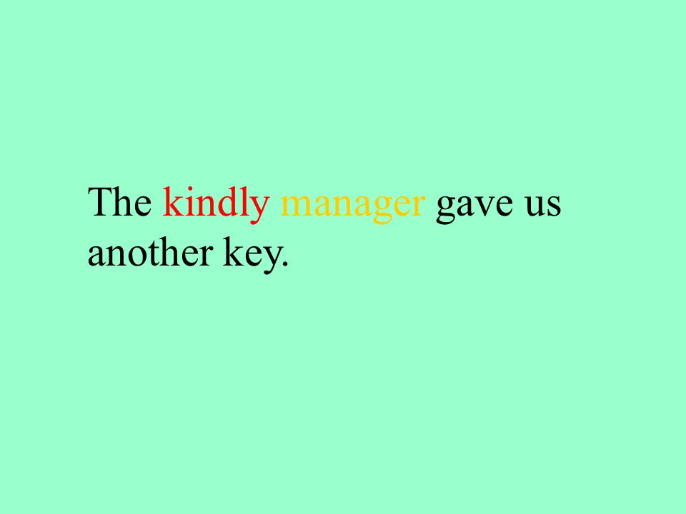 The kindly manager gave us another key.