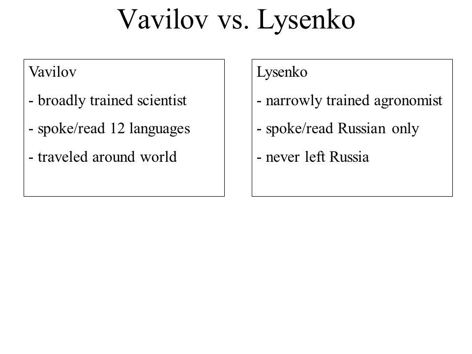 Vavilov vs.