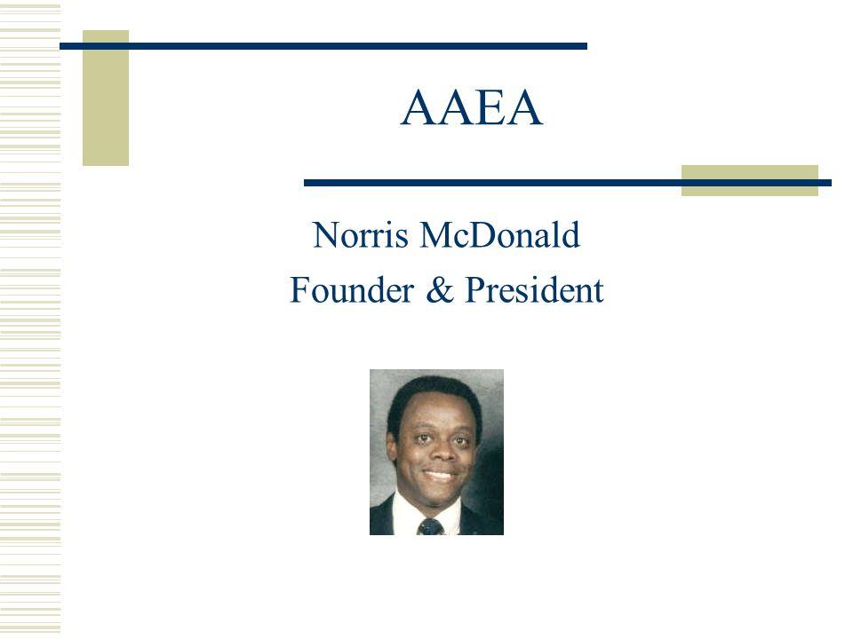 AAEA Norris McDonald Founder & President