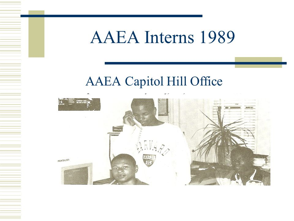 AAEA Interns 1989 AAEA Capitol Hill Office