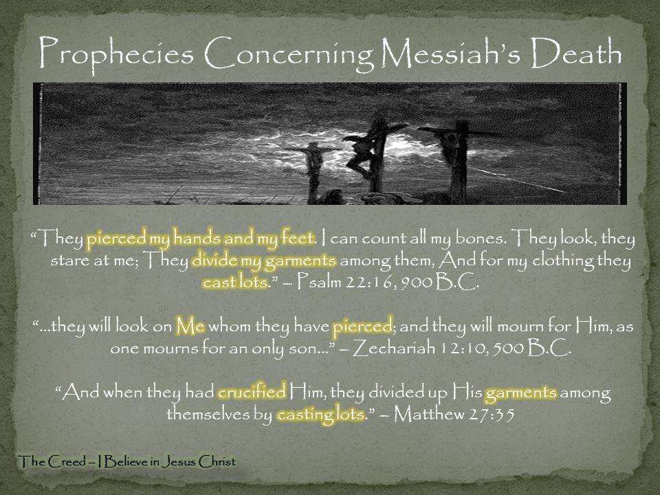 Prophecies Concerning Messiah's Death