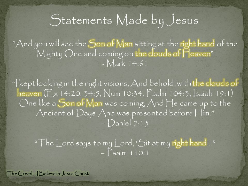 Statements Made by Jesus