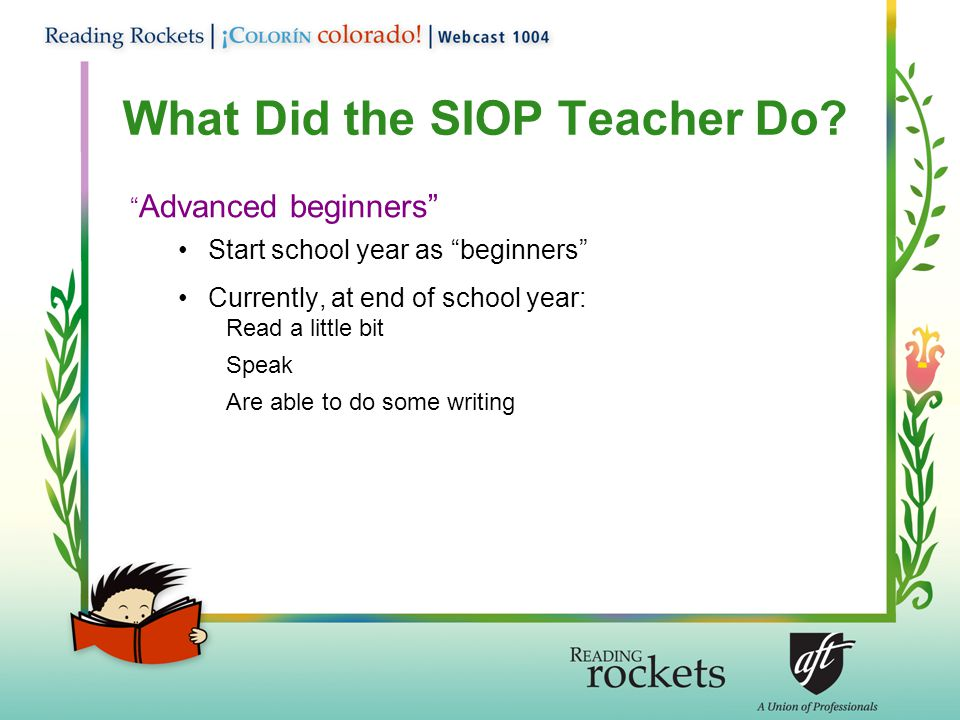 What Did the SIOP Teacher Do.
