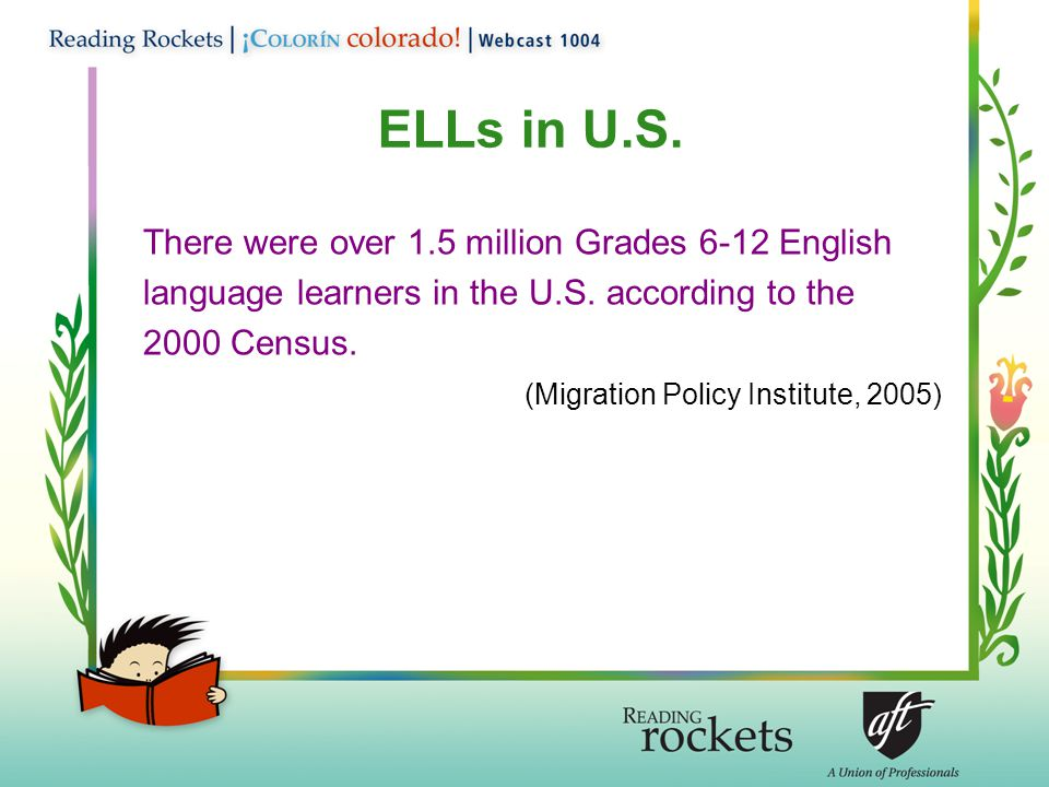 There were over 1.5 million Grades 6-12 English language learners in the U.S.