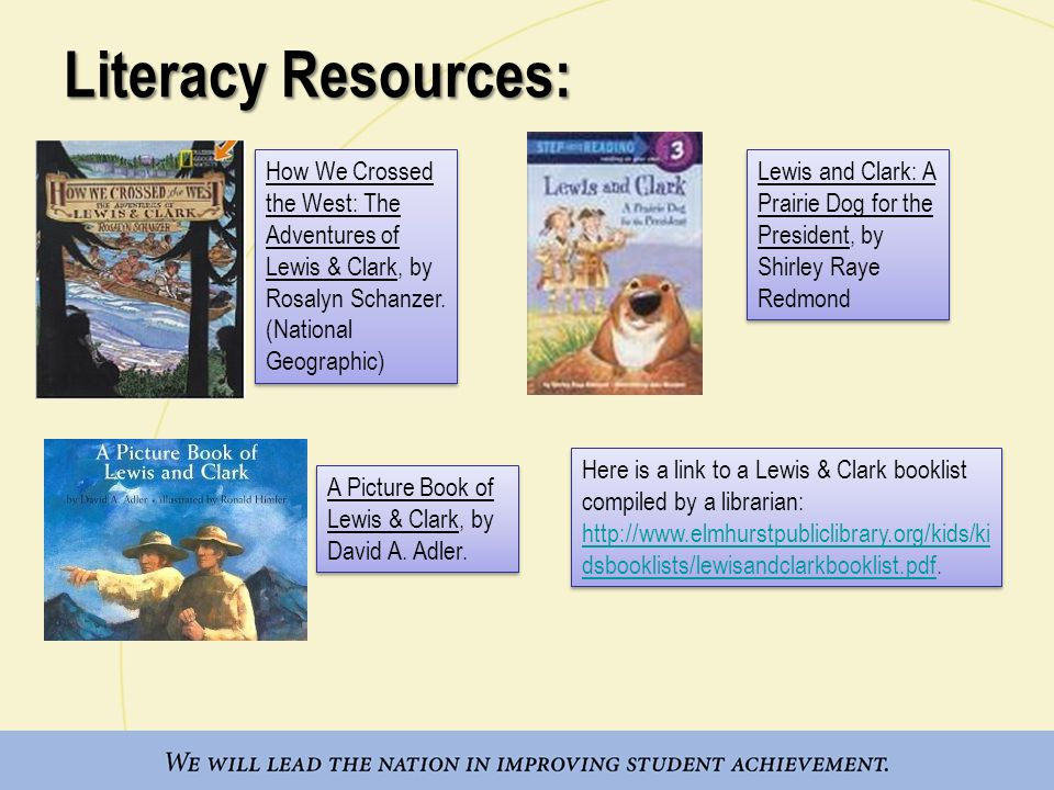 Literacy Resources: A Picture Book of Lewis & Clark, by David A.