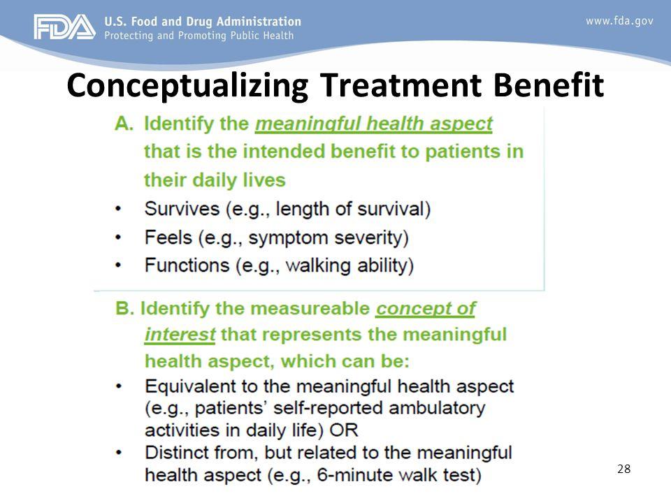 Conceptualizing Treatment Benefit 28