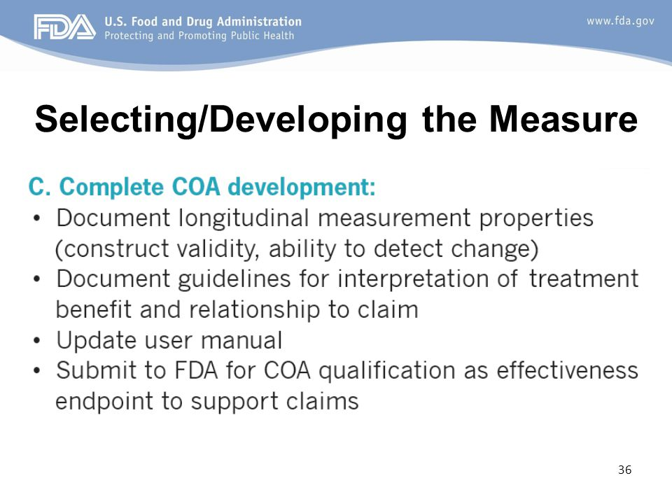 Selecting/Developing the Measure 36