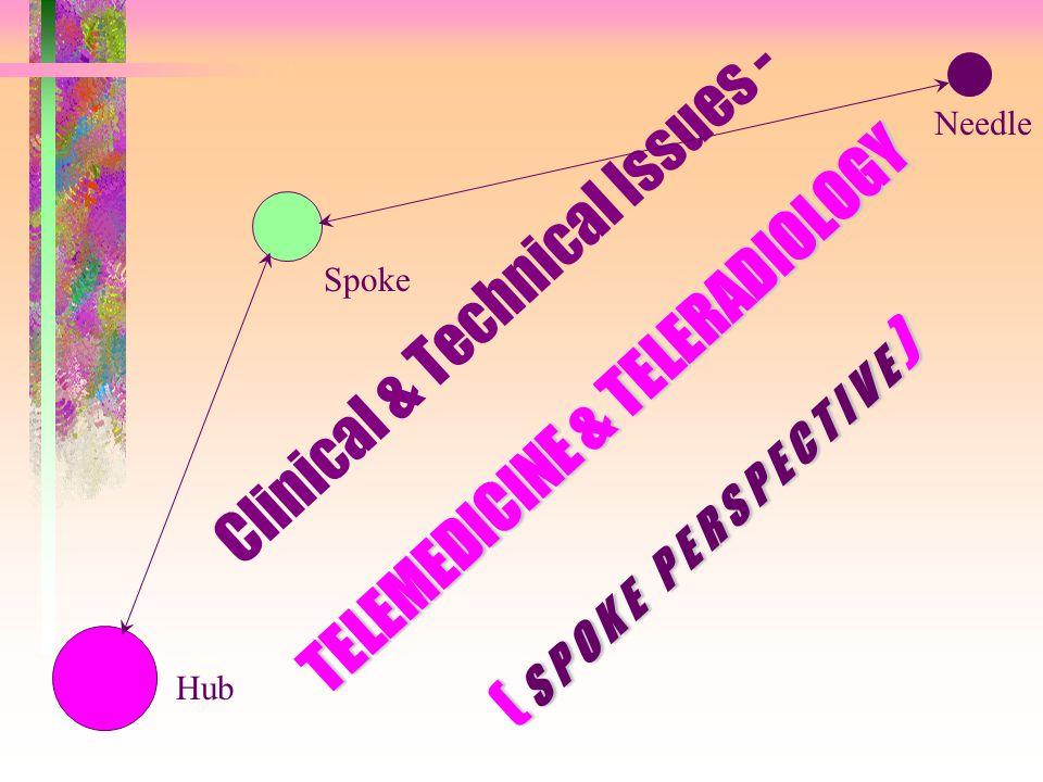 TELEMEDICINE & TELERADIOLOGY ( S P O K E P E R S P E C T I V E ) Clinical & Technical Issues - TELEMEDICINE & TELERADIOLOGY ( S P O K E P E R S P E C T I V E ) Needle Spoke Hub
