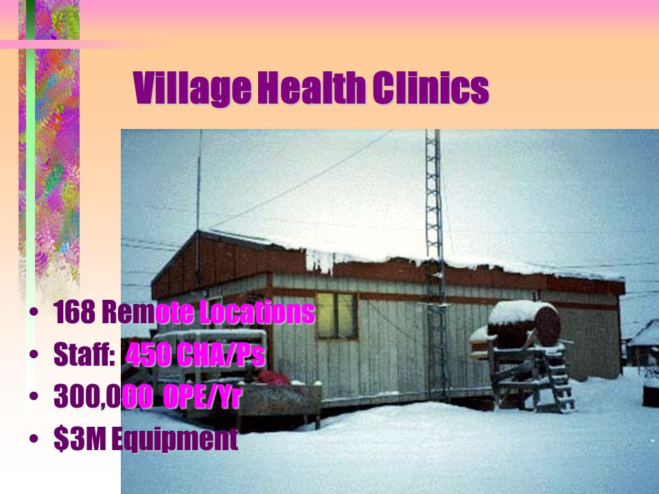 Alaska Native Medical Center 150 Bed 5,000 Disch/Yr 225,000 OPE/Yr 50,000 Radiology Studies/Yr