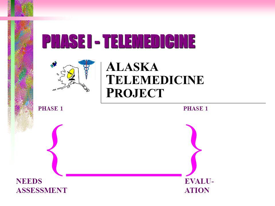 ____}{ PHASE 1 PHASE 1 A LASKA T ELEMEDICINE P ROJECT NEEDS EVALU- ASSESSMENT ATION PHASE I - TELEMEDICINE