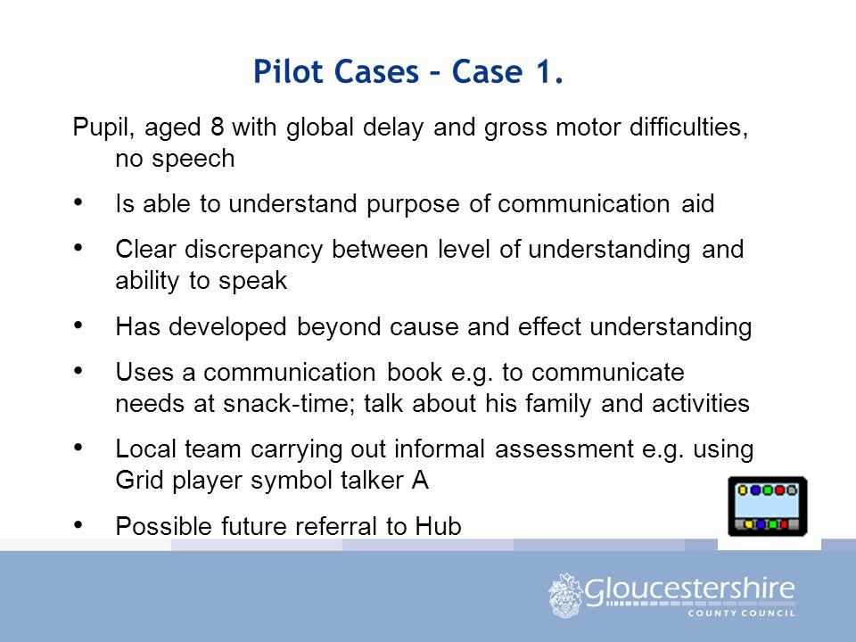 Pilot Cases – Case 1.