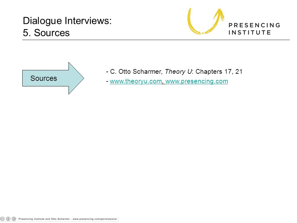 Dialogue Interviews: 5. Sources Sources - C.