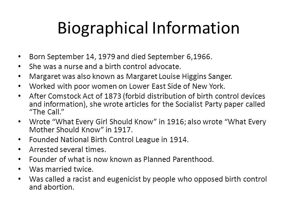 Biographical Information Born September 14, 1979 and died September 6,1966.