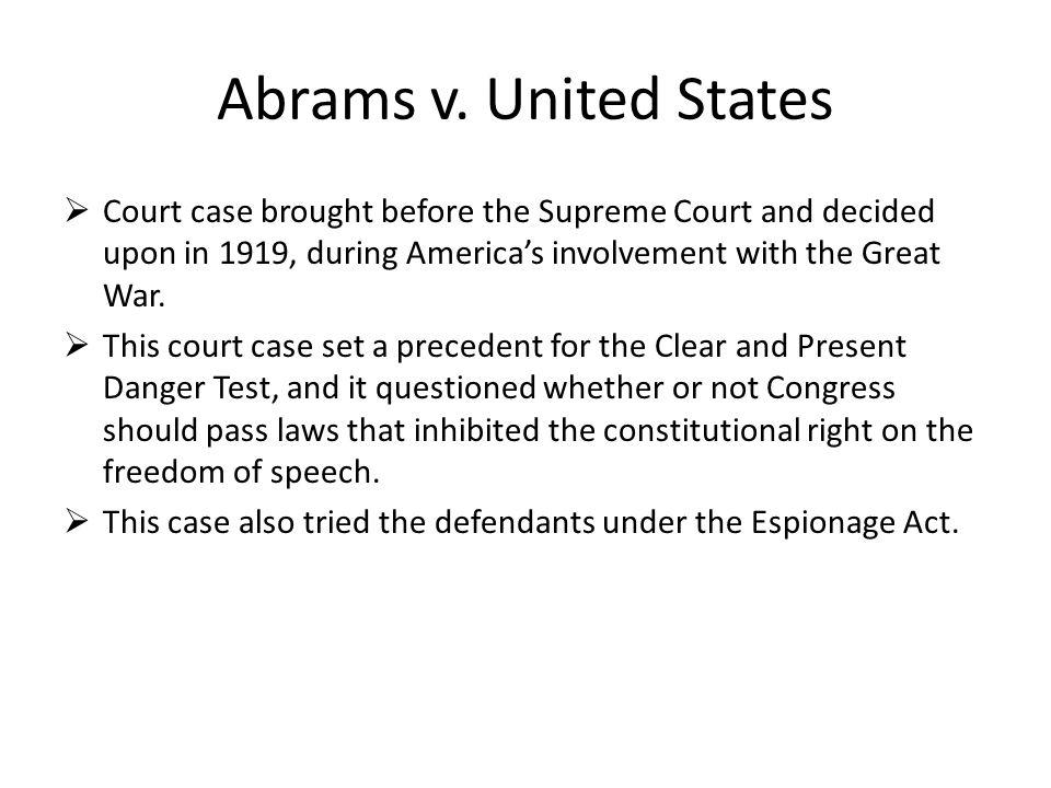 Abrams v.