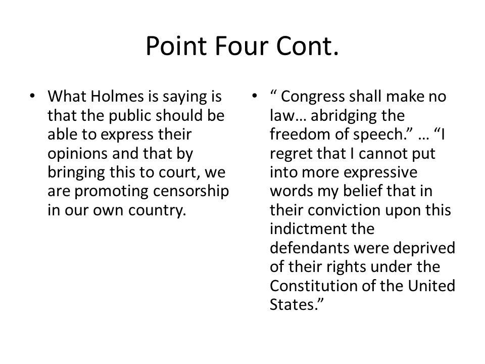 Point Four Cont.